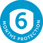 6 months protection logo